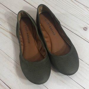 Lucky Brand Olive Green Emmie Ballet Flats - 5
